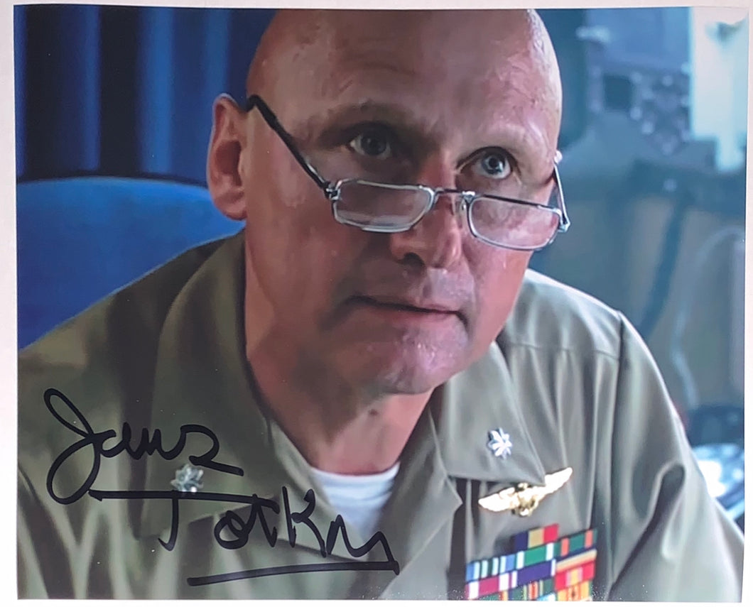James Tolkan Signed Topgun 8x10