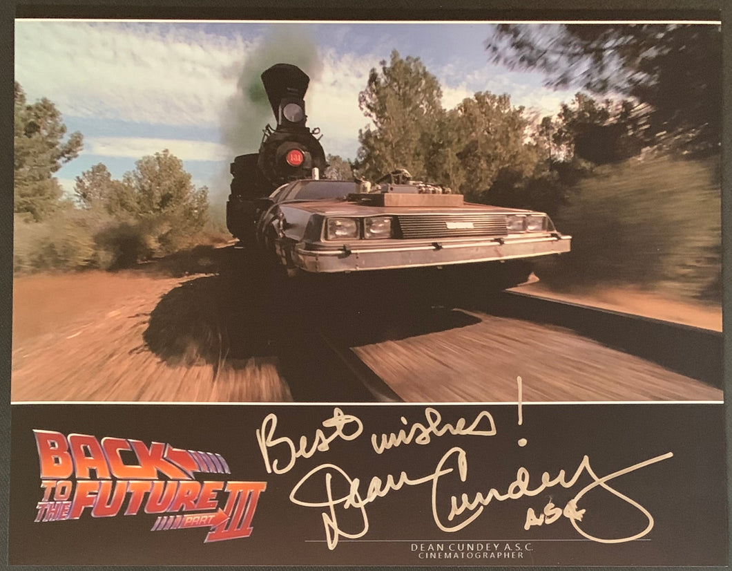 Dean Cundey Signed 8x10 Back to the Future