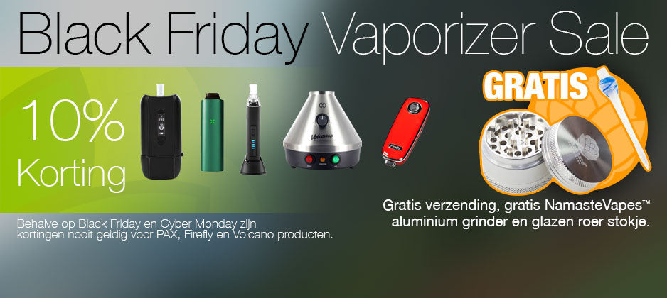 Black-Friday-Cyber-Monday-Namaste-Vapes-korting-vaporizers
