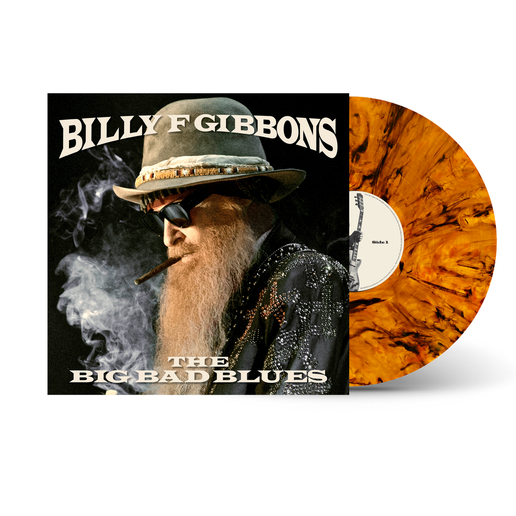 Billy Gibbons The Big Bad Blues Tiger S Eye Signed Or Unsigned Vinyl Rounder Records