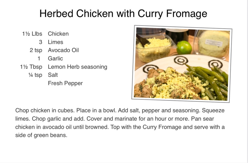 Curried Fromage Blanc herbed chicken recipe