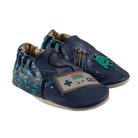 Robeez Soft Soles - Sonic Blue Leather