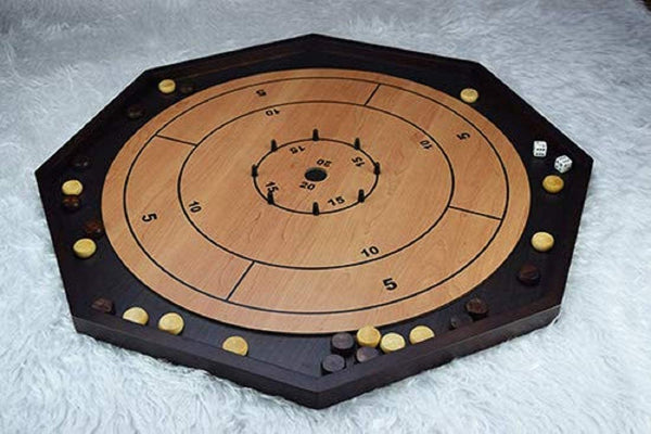 Crokinole Deluxe 3 in 1 Wooden Game Set (Curbside Only) 5+