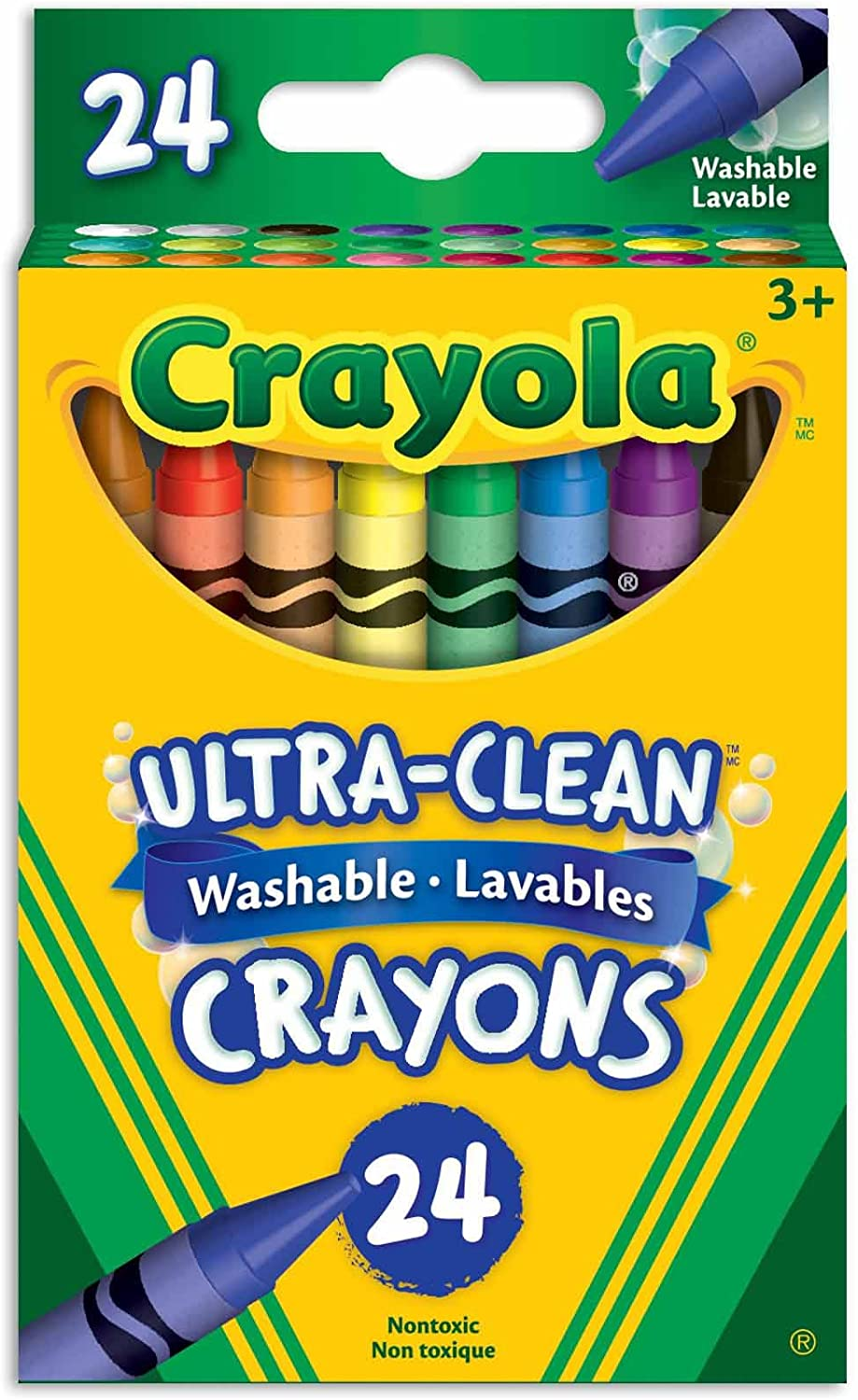 Ultra Clean washable 24 crayons Crayola