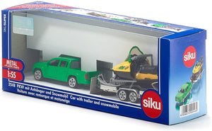 SIKU Car with Trailer and Snowmobile