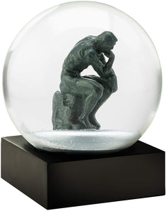 The Thinker Snow Globe by Cool Snow Globes