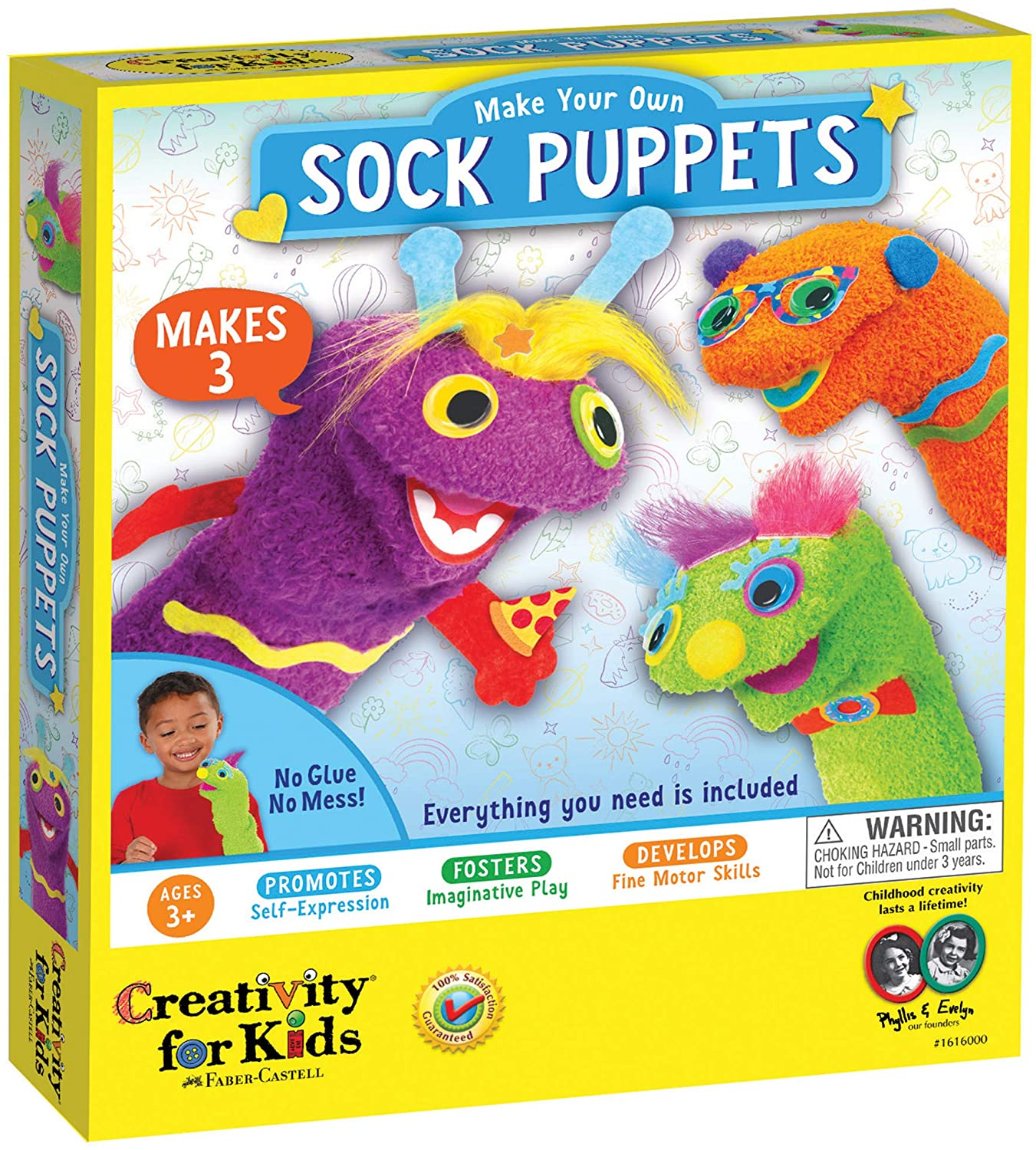 Make Your Own Sock Puppets 3+