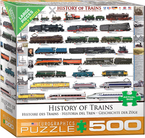 History of Trains 500pc