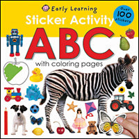 Sticker Activity ABC - With Colouring Pages