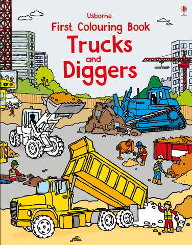 First Colouring Book - Trucks and Diggers