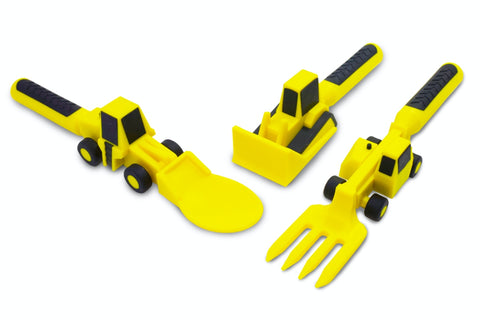 Constructive Eating Utensils - Construction Vehicles