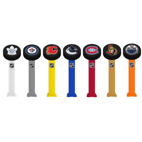 Pez Candy & Dispenser - NHL Hockey Pucks