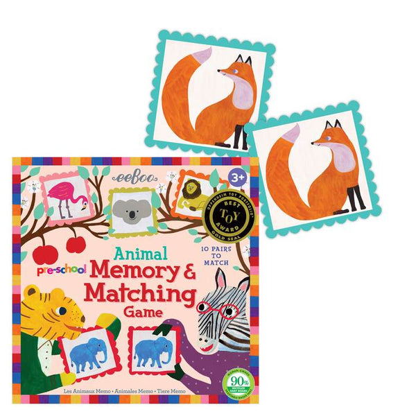 Pre-school Animal Memory & Matching Game