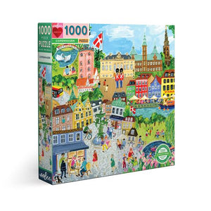 Copenhagen 1000 pc puzzle. Woman Owned. Mother Run. Sustainably Sourced