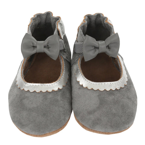 Robeez Soft Soles - Keeping it Classy Mary Jane - Grey