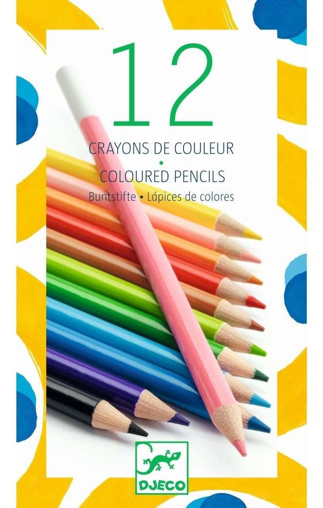 12 Coloured Pencils Djeco