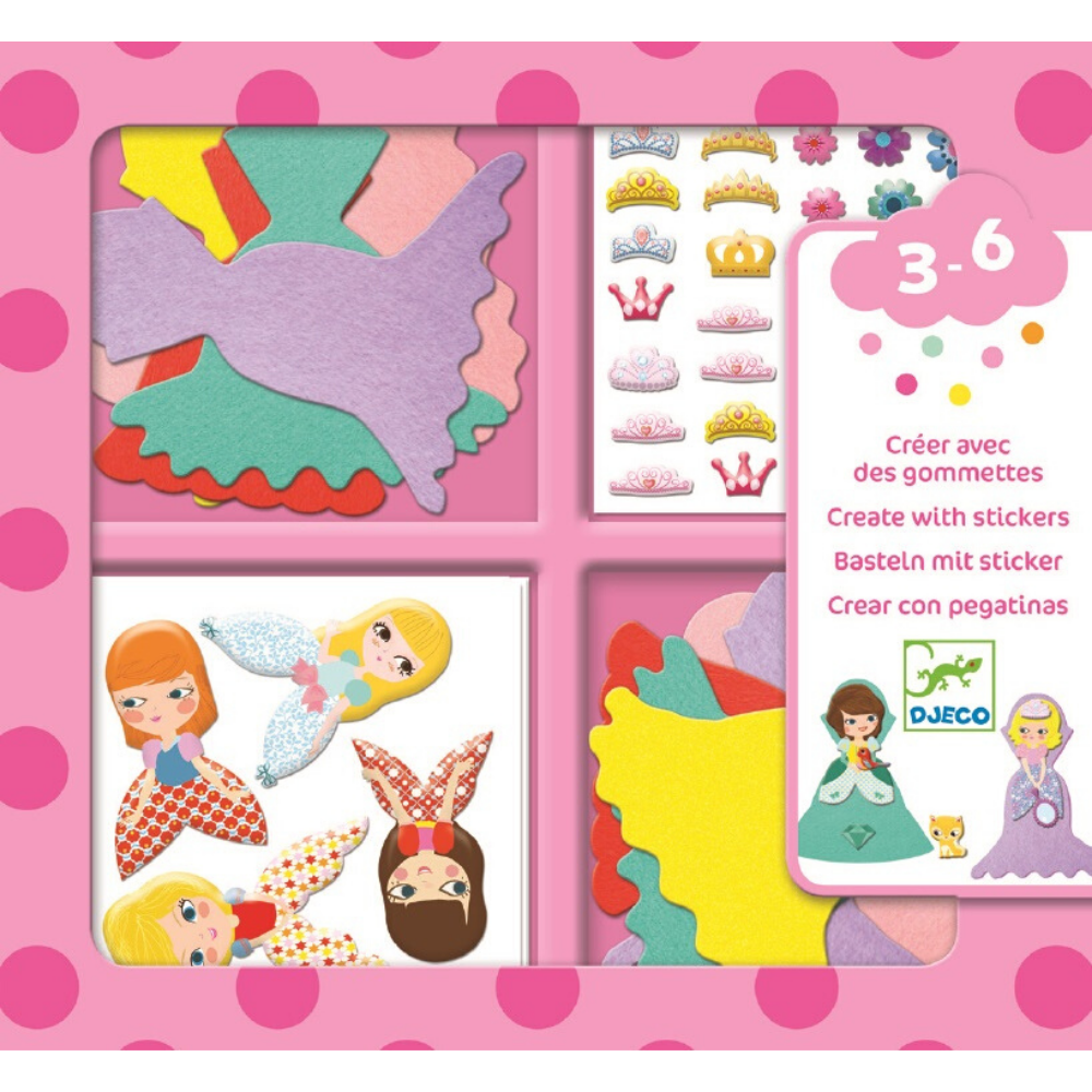 Create with Stickers - Dress Up - Djeco  Ages 3-6