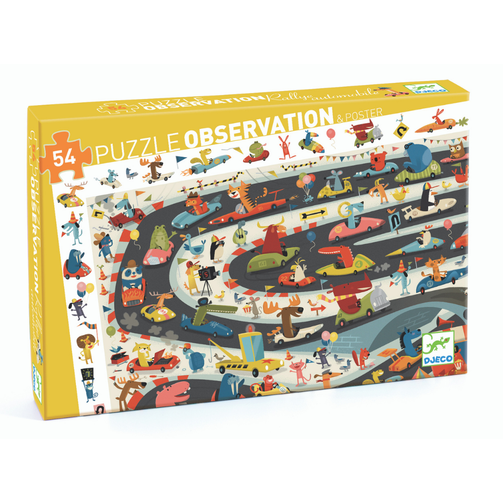 Observation Puzzle / Car Rally / 54pc 4+