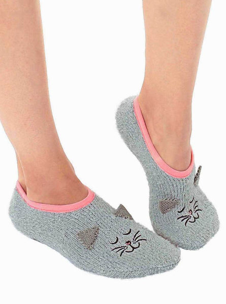 Fuzzy Cat Slipper Socks - Living Royal - One size fits most