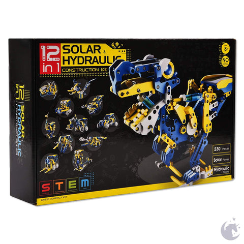 12-in-1 Solar & Hydraulic Robot Kit Ages 8+  STEM