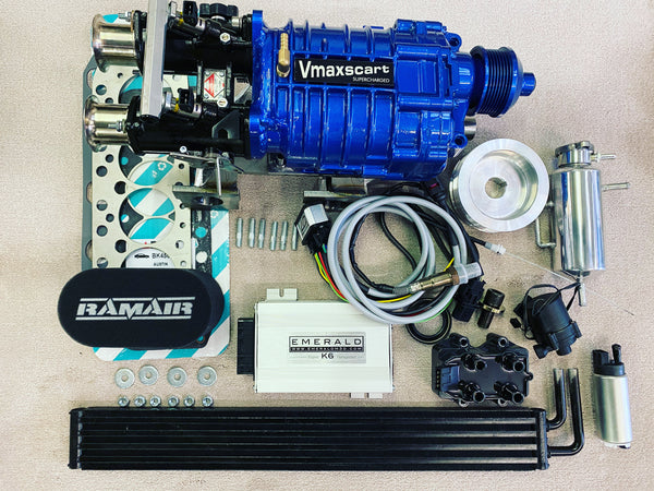 Injection kit with K6 Emerald ECU, Wideband and chargecoolern