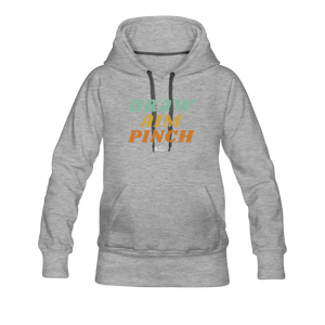 Draw Aim Pinch Women's Premium Hoodie - heather gray