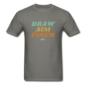 Draw Aim Pinch Premium Men's Tee - charcoal