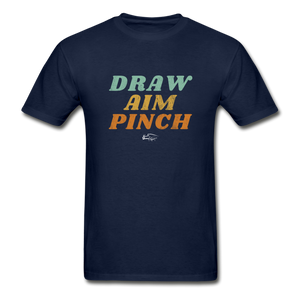 Draw Aim Pinch Premium Men's Tee - navy