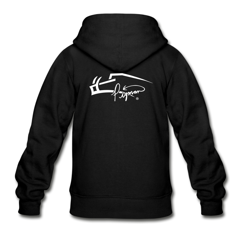 Back Signature Youth Zip Hoodie - black