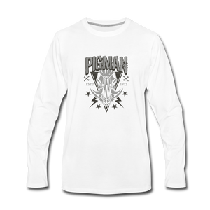 Pig Skull Premium Long Sleeve Men's T-Shirt - white