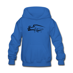 Pigman Signature Youth Hoodie - royal blue