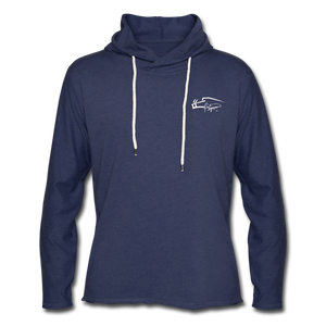 Signature Lightweight Terry Women's Hoodie - heather navy
