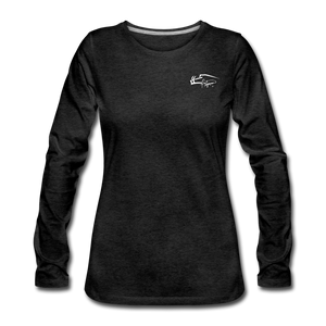 Signature Premium Long Sleeve Women's Tee - charcoal gray