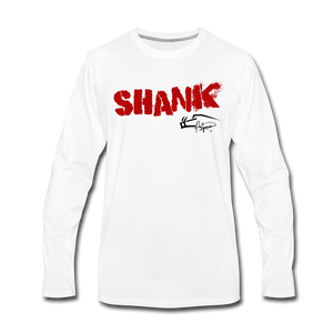 Shank Shot Men's Premium Long Sleeve Tee - white