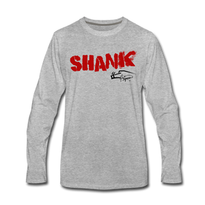 Shank Shot Men's Premium Long Sleeve Tee - heather gray