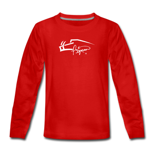 Signature Premium Long Sleeve Youth Tee - red