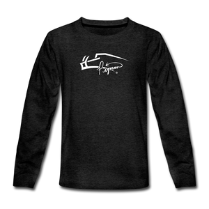 Signature Premium Long Sleeve Youth Tee - charcoal gray