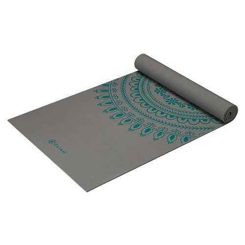 Gaiam 6mm Longer/Wider Marrakesh Premium Workout Mat