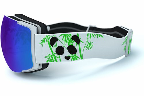 Panda Optics Cobalt Polarised Adult Ski Goggles - White