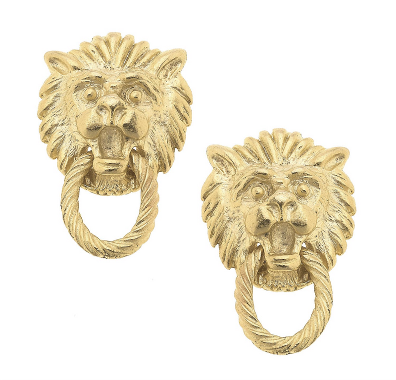 Small lion head studs