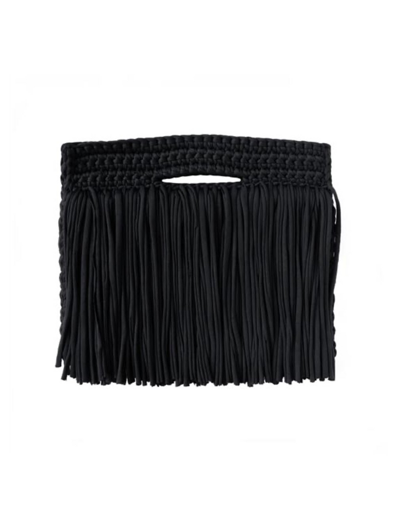 Sophia Eco Ribbon Clutch- Black