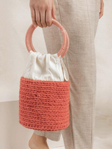 Villa Bucket Bag- Coral