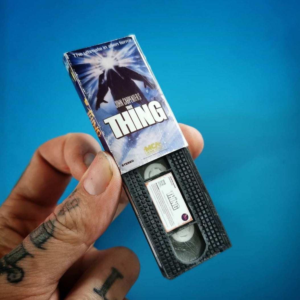 The Thing VHS Keychain