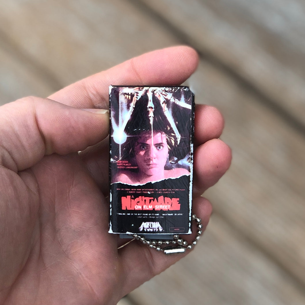 Nightmare On Elm Street VHS Keychain