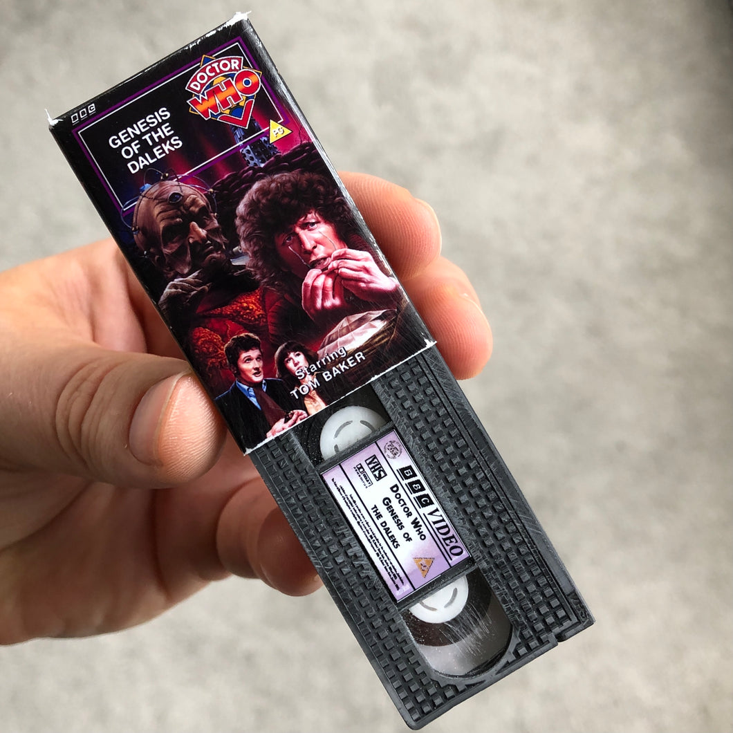 Doctor Who Genesis of The Daleks VHS Keychain