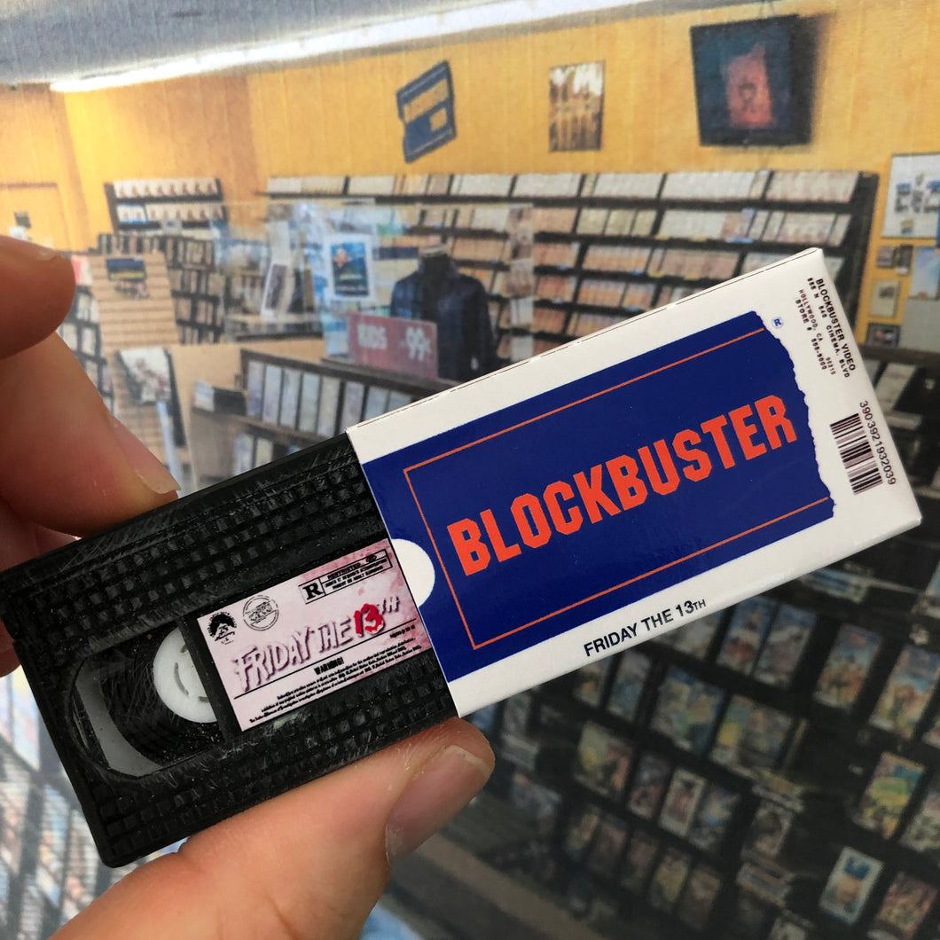 Blockbuster Rental VHS Keychain