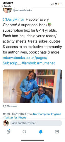 KIrsten & Aiyven Mbawa. Founders of Happier Every Chapter Book Subscription box