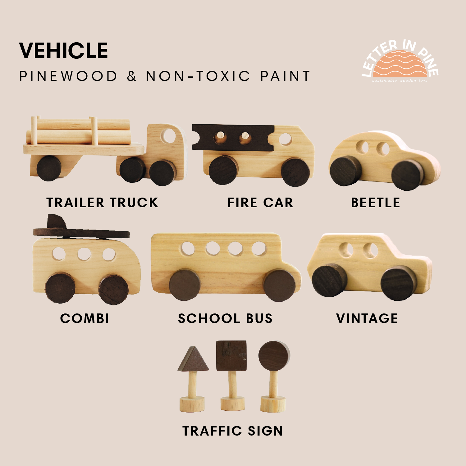 Vehicles & Traffic Signs Play Set
