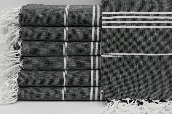 MONACO BLACK TURKISH TOWEL