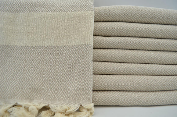 VENICE BEIGE TURKISH TOWEL